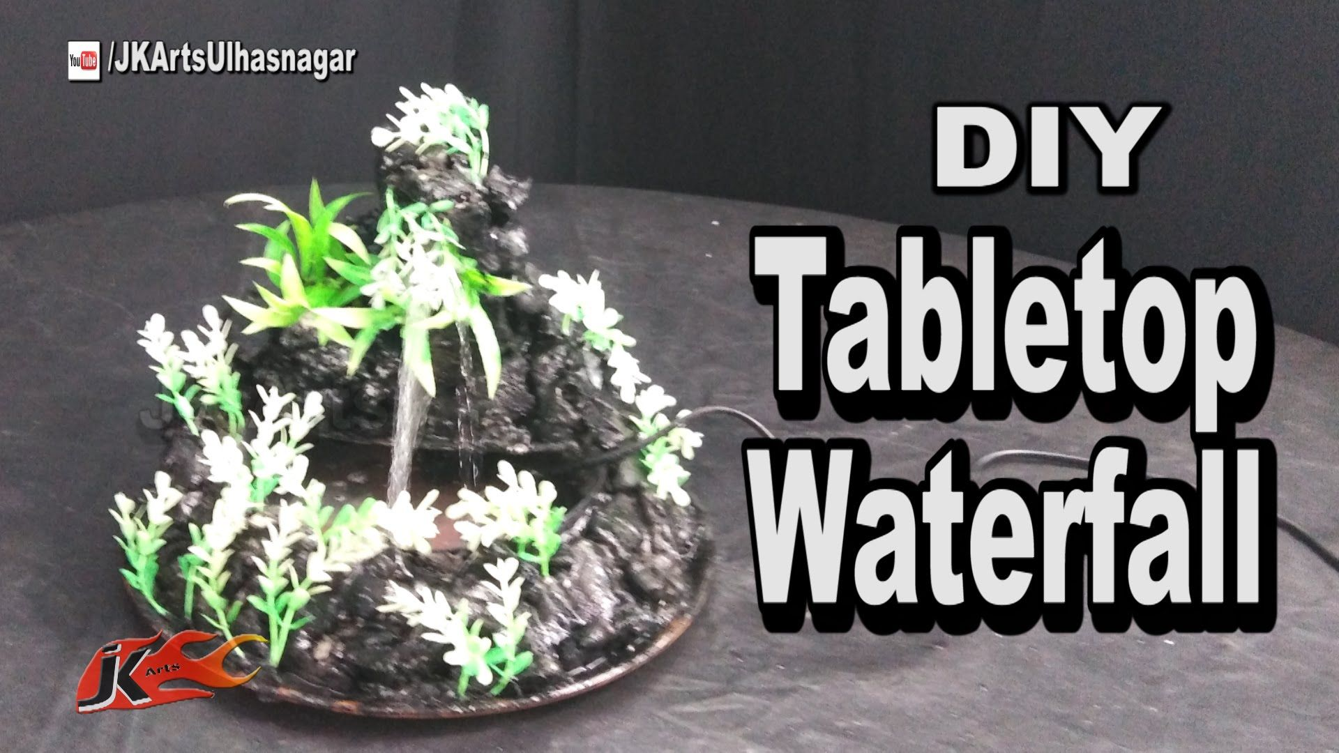 Diy how to make waterfall tabletop cement mountain