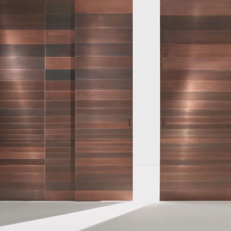 Copper Wall Covering : Boiserie stars bartoli design laura meroni wall
