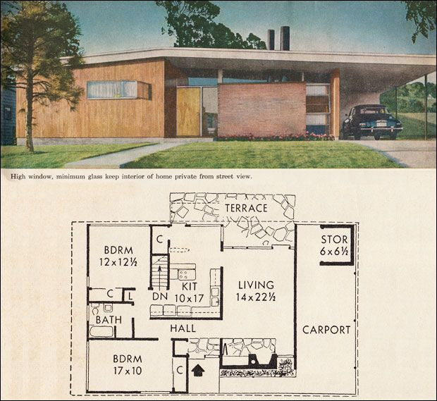 Mod The Sims 1960 Mid Century Modern Better Homes Gardens Mid Century Modern House Plans Mid Century Modern House Vintage House Plans