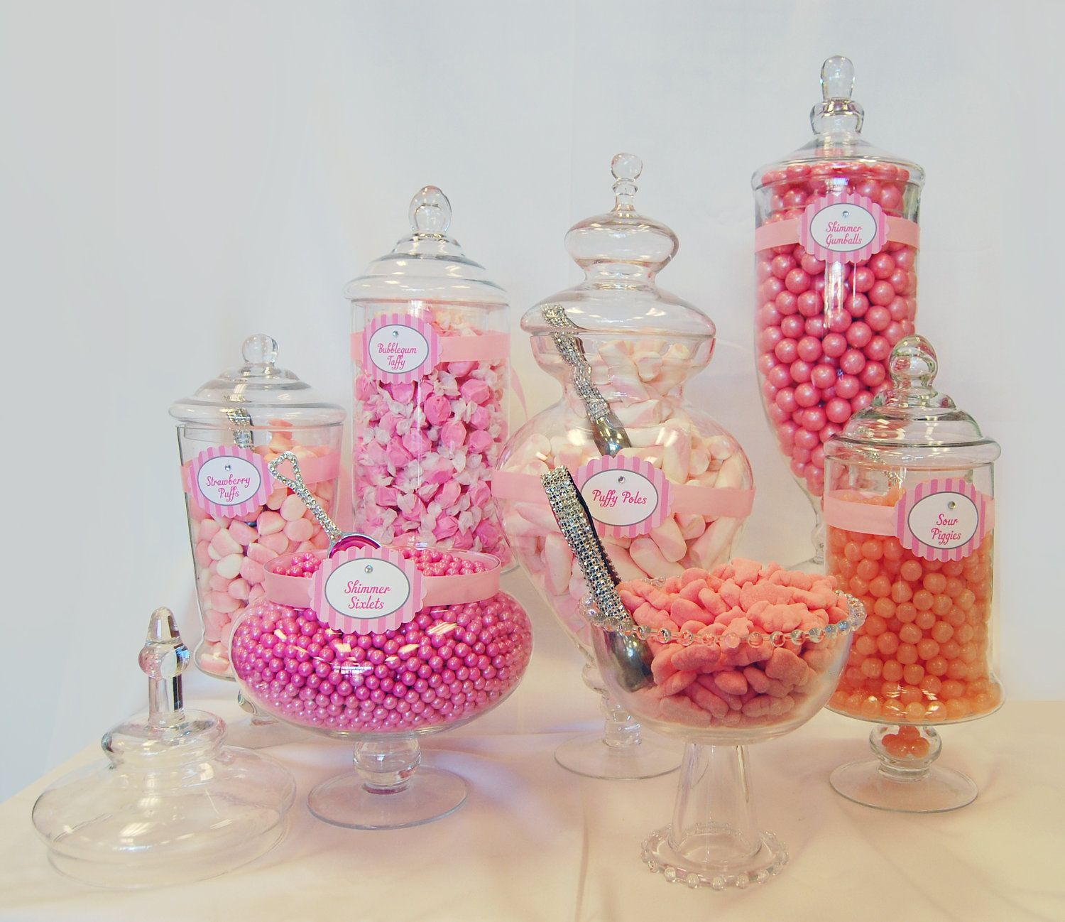 Apothecary Candy Jars Wholesale | Pink Candy Buffet Bulk Candy to fill your Apothecary Jars ...