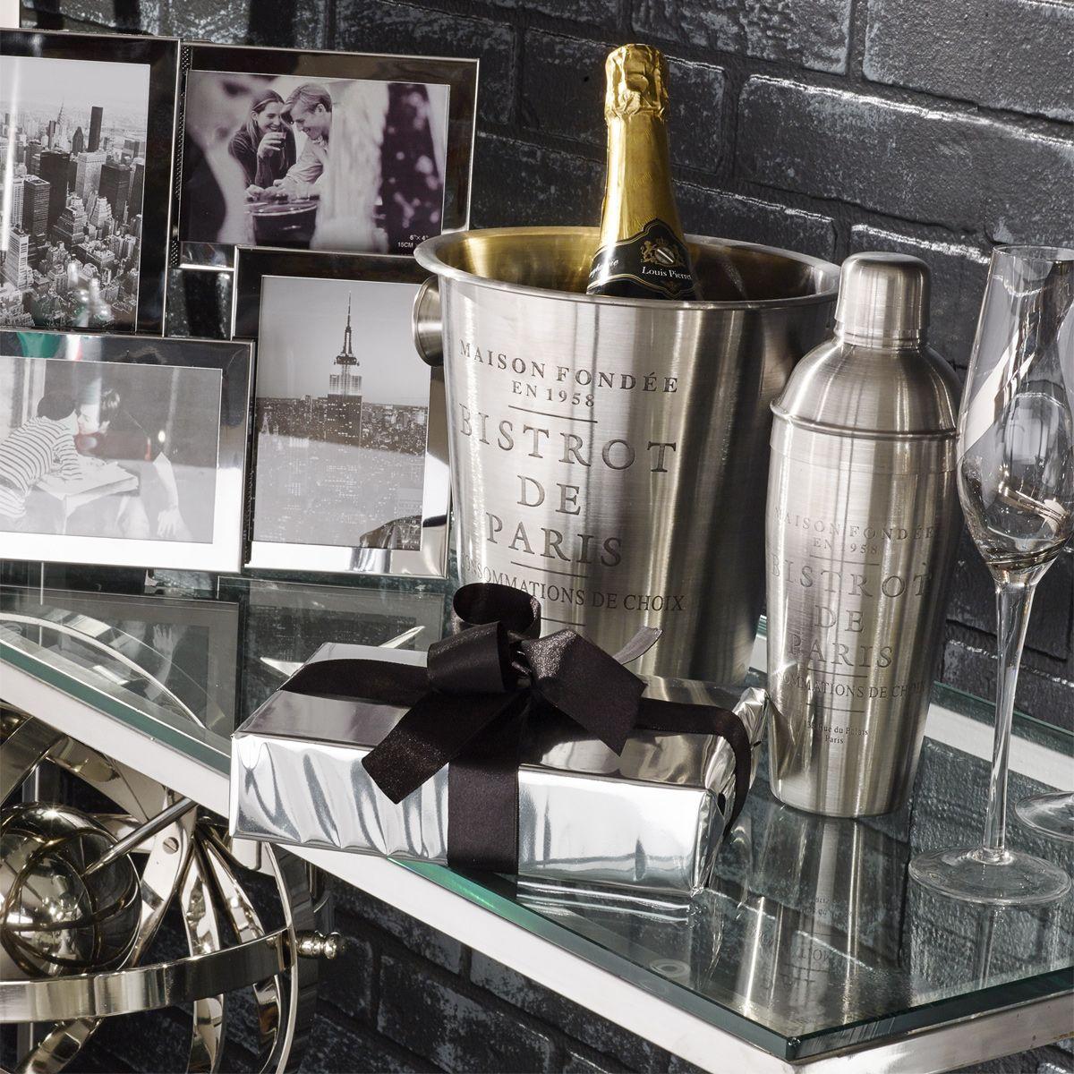 seau champagne effet chrom bistrot de paris maisons du monde classique chic. Black Bedroom Furniture Sets. Home Design Ideas