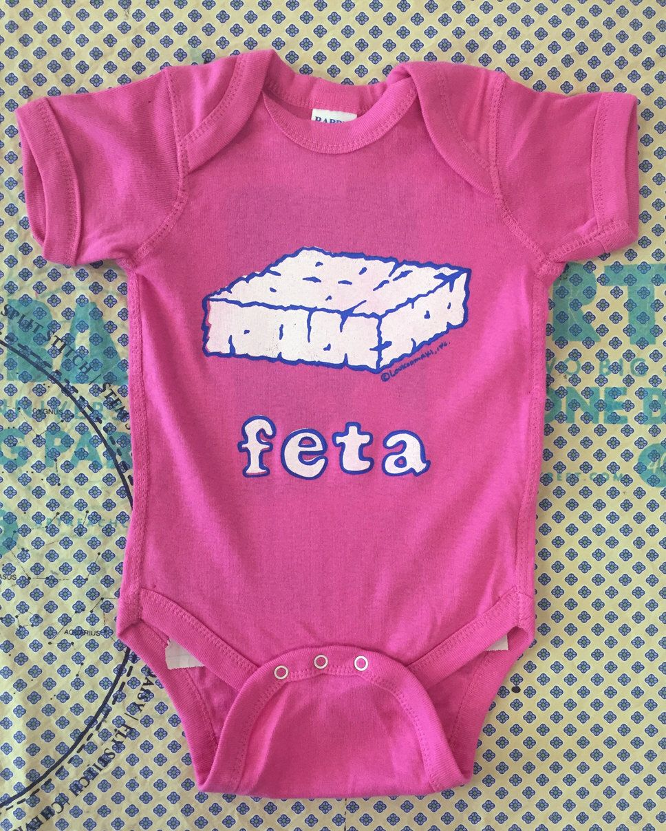 62646f33fc Feta Cheese Baby Onesie - Greek baby gift-gift by Loukoumaki on Etsy https