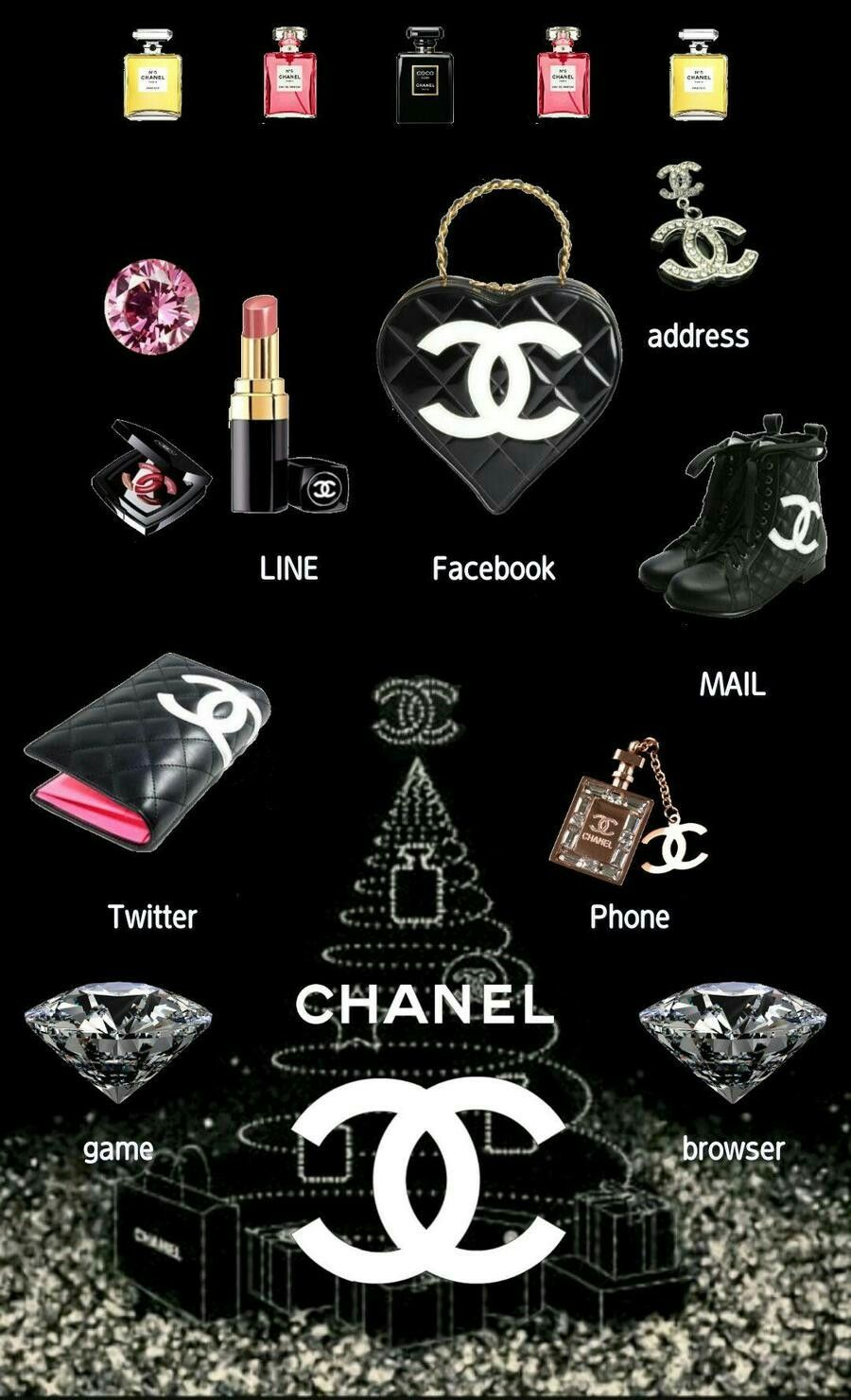 Pin By Vicki On Coco Chanel Chanel Wallpapers Cellphone