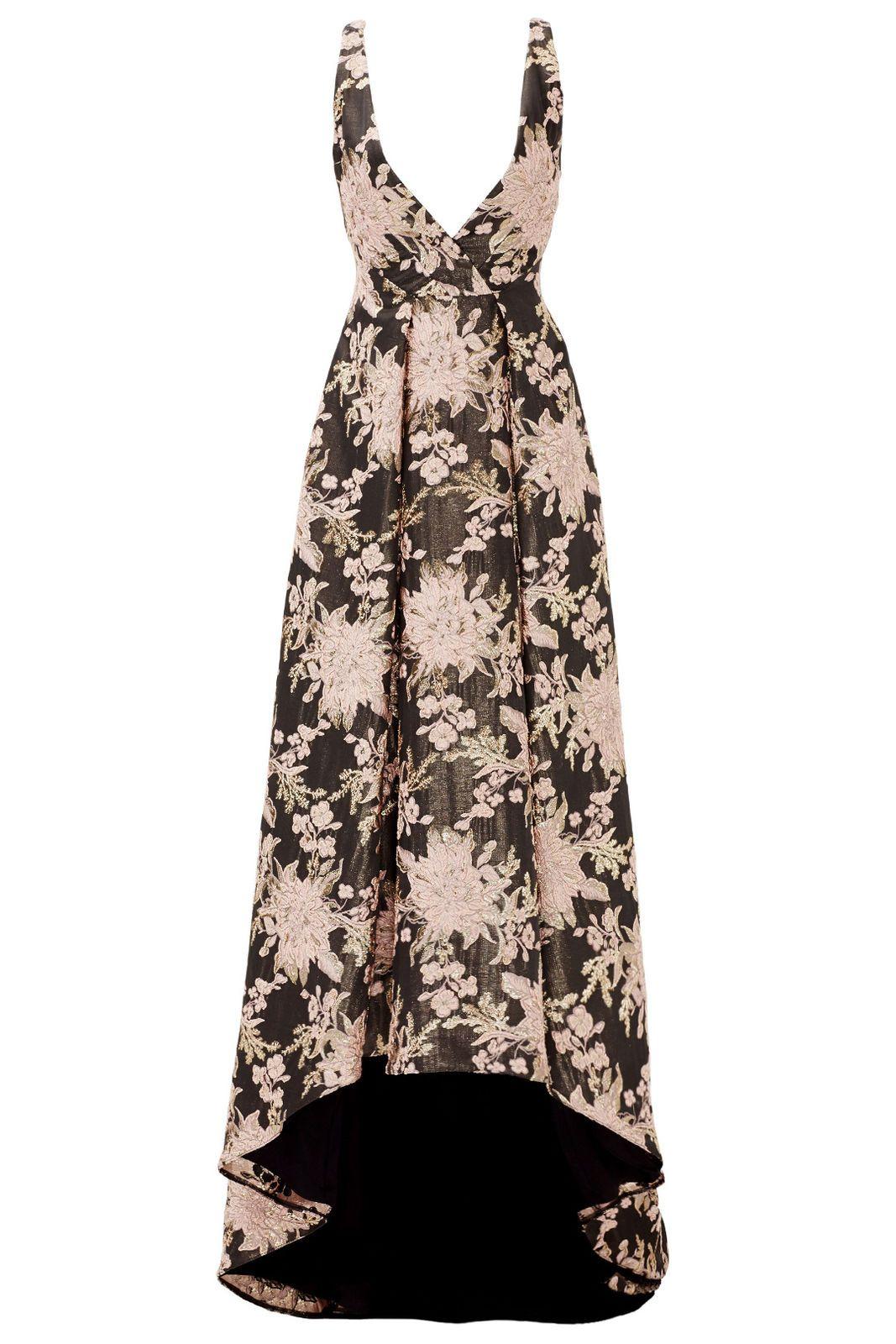 Badgley Mischka Woman Floral-jacquard Dress Black Size 2 Badgley Mischka Shop Offer Sale Online Best Sale Online Buy Cheap Latest EGGwegb
