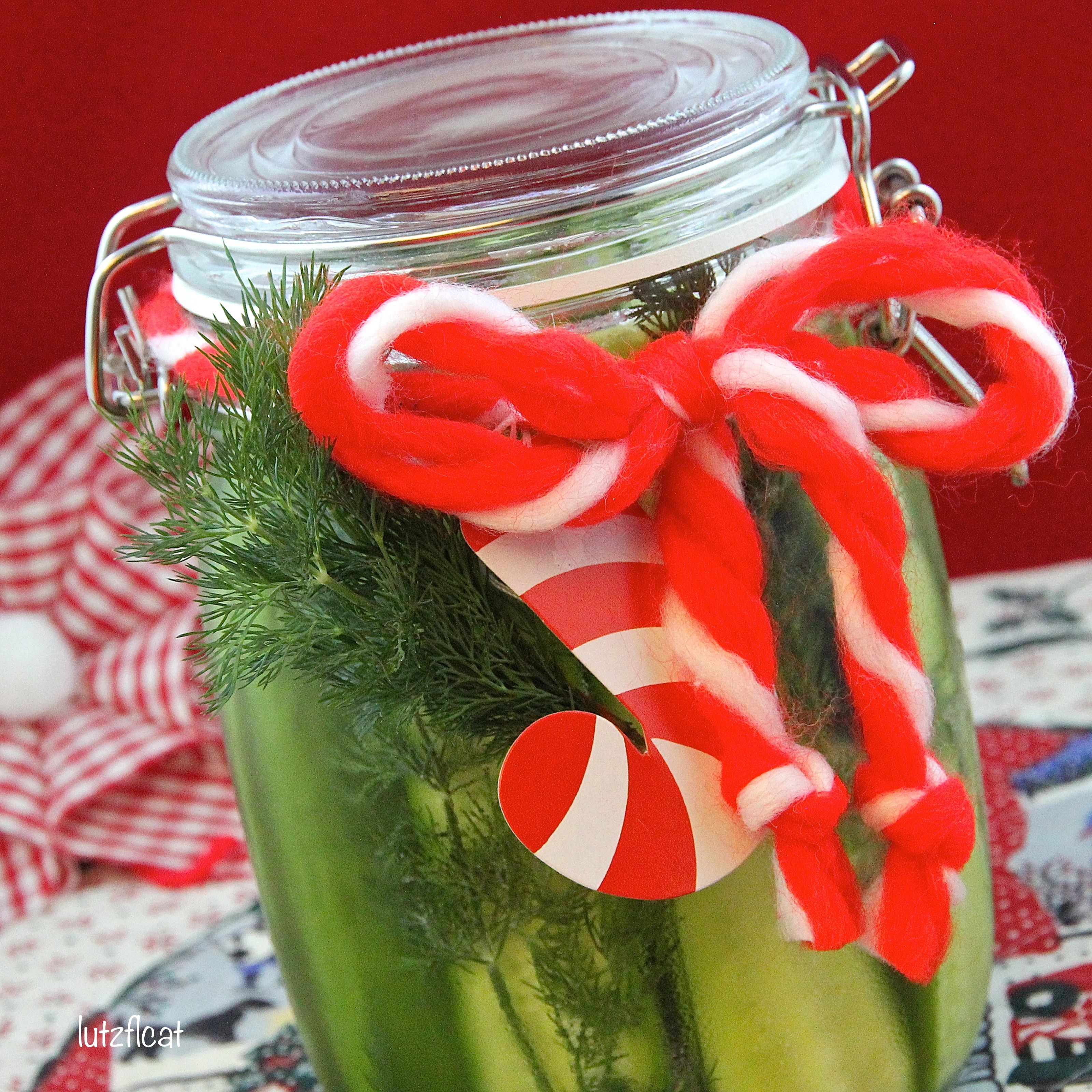 Refrigerator Dill Pickles are crunchy and fresh and would make a great gift if you want to step outside the cookies and candy category this year.  And nobody will ever know how simple they are to make.   #HomemadeHoliday