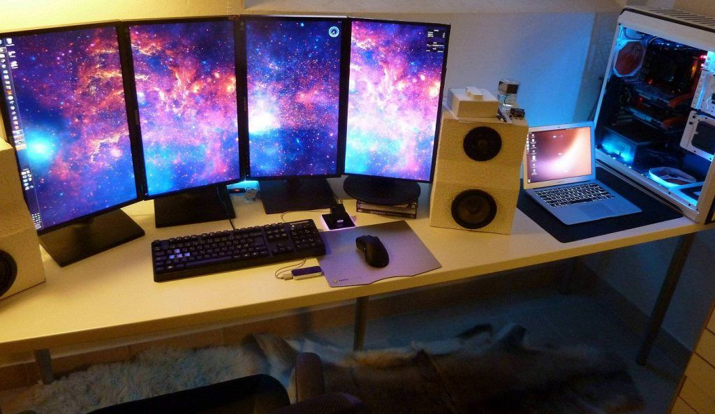 Computer Desk Setup In Living Room