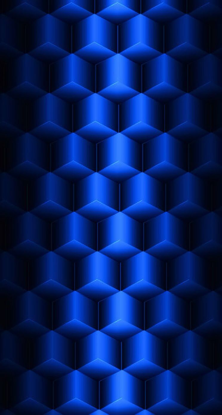iphone 5 wallpaper patterns abstract blue parallax 3d cubes | blue