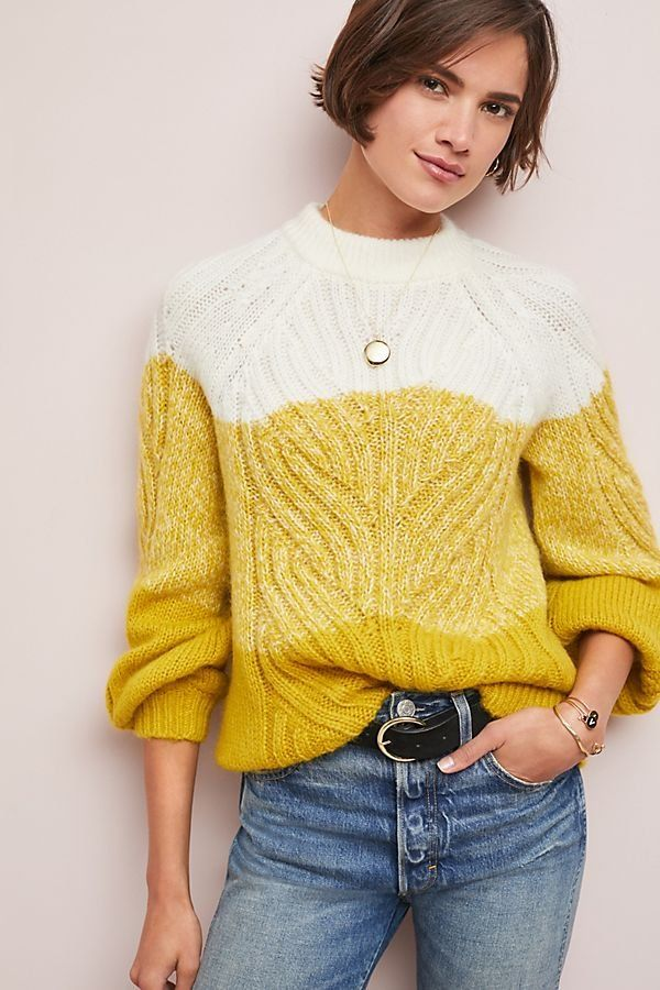 Colour Block Cable Knit Jumper in 2018 | fashion > knitwear ...