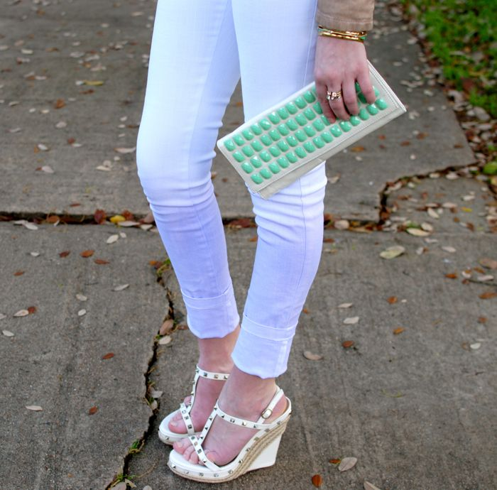 Ombre jeans by Bec & Bridge and Valentino wedges