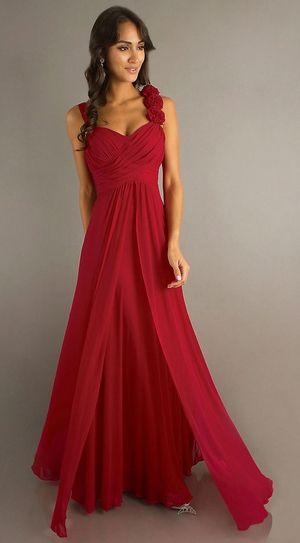 Red Semi Formal Dresses Evening Dress