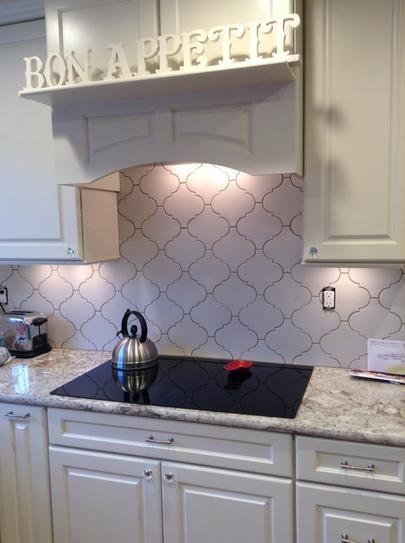 lantern tile backsplash