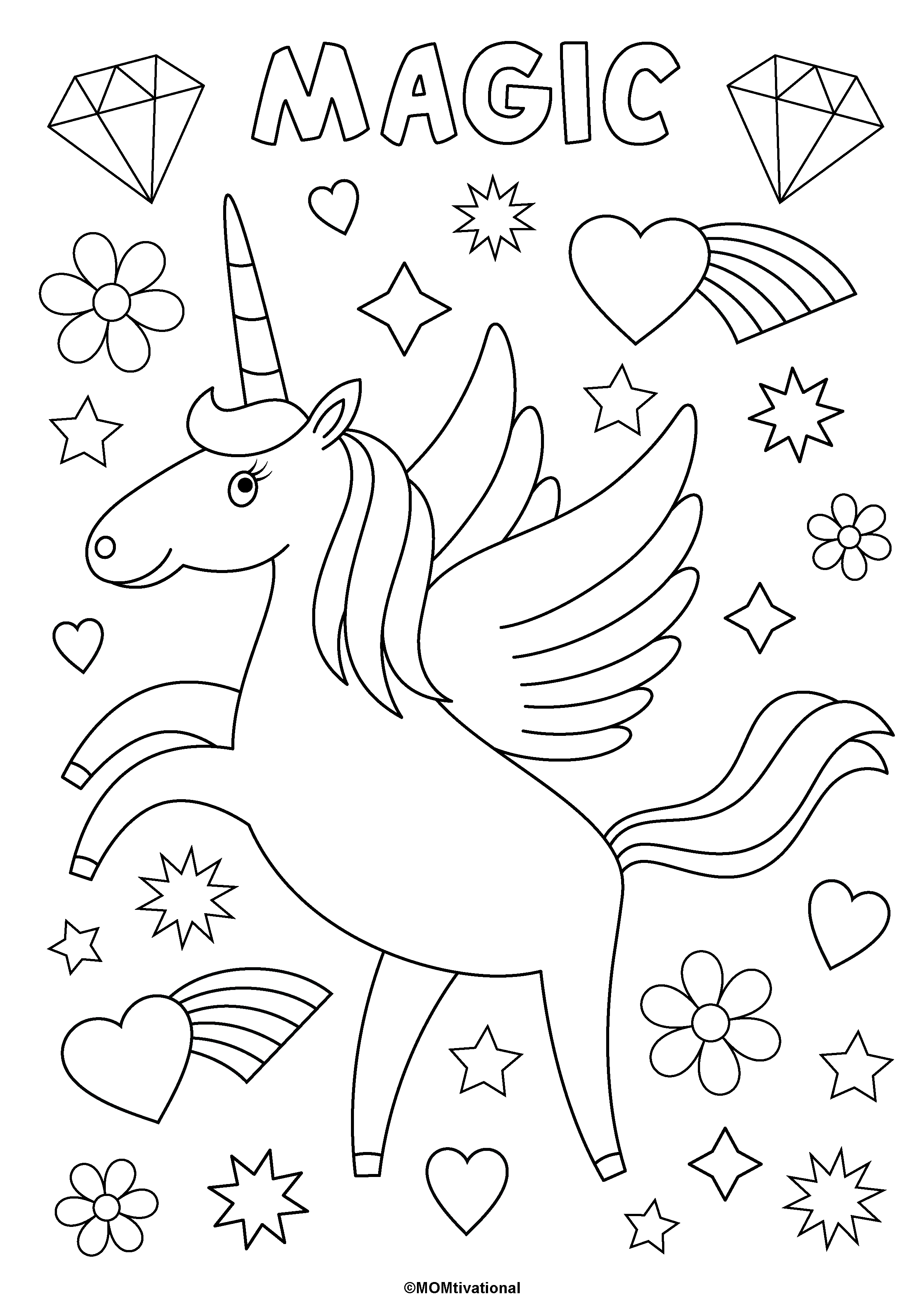 Fun And Free Unicorn Coloring Pages For Kids Momtivational Unicorn Coloring Pages Free Kids Coloring Pages Love Coloring Pages