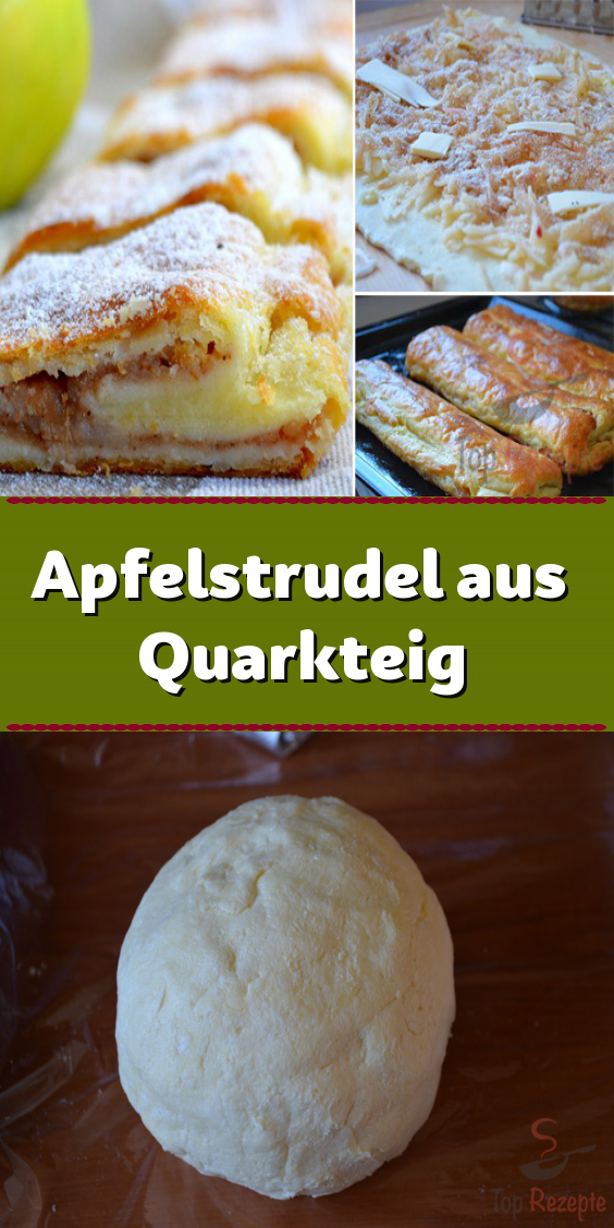 Photo of Apfelstrudel aus Quarkteig