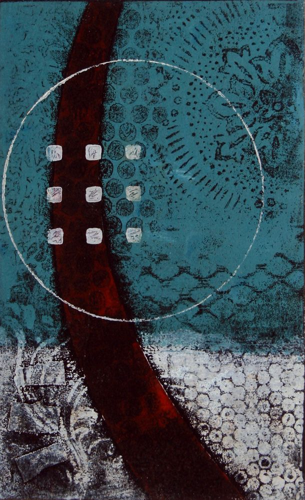 "Path of Grace, monotype by Anne Moore, 10?|""X 6"""