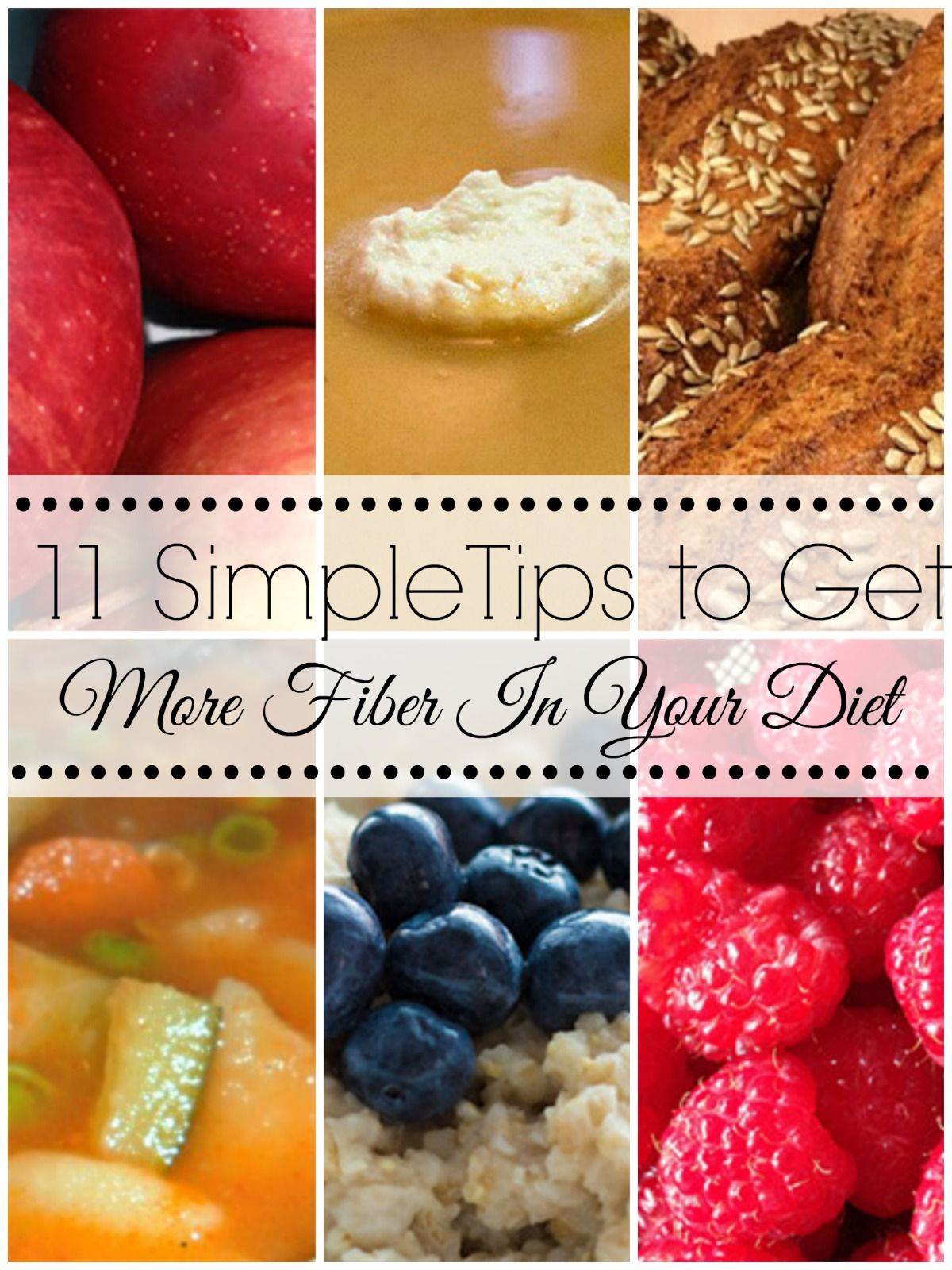 11 Simple Tips to Get More Fiber In Your Diet #Fiber # ...