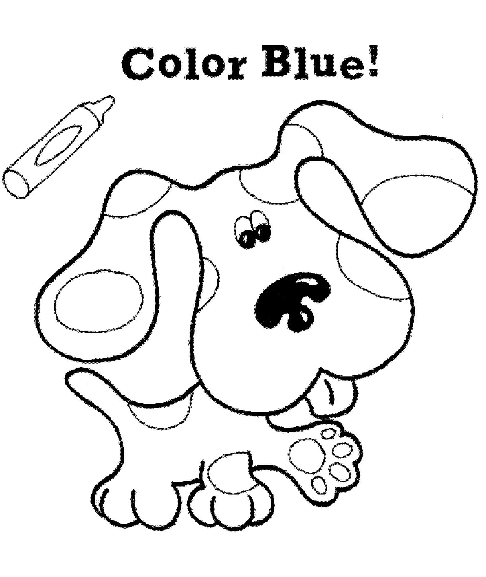 Blues Clues Birthday Parties Blues Clues Coloring For Kids
