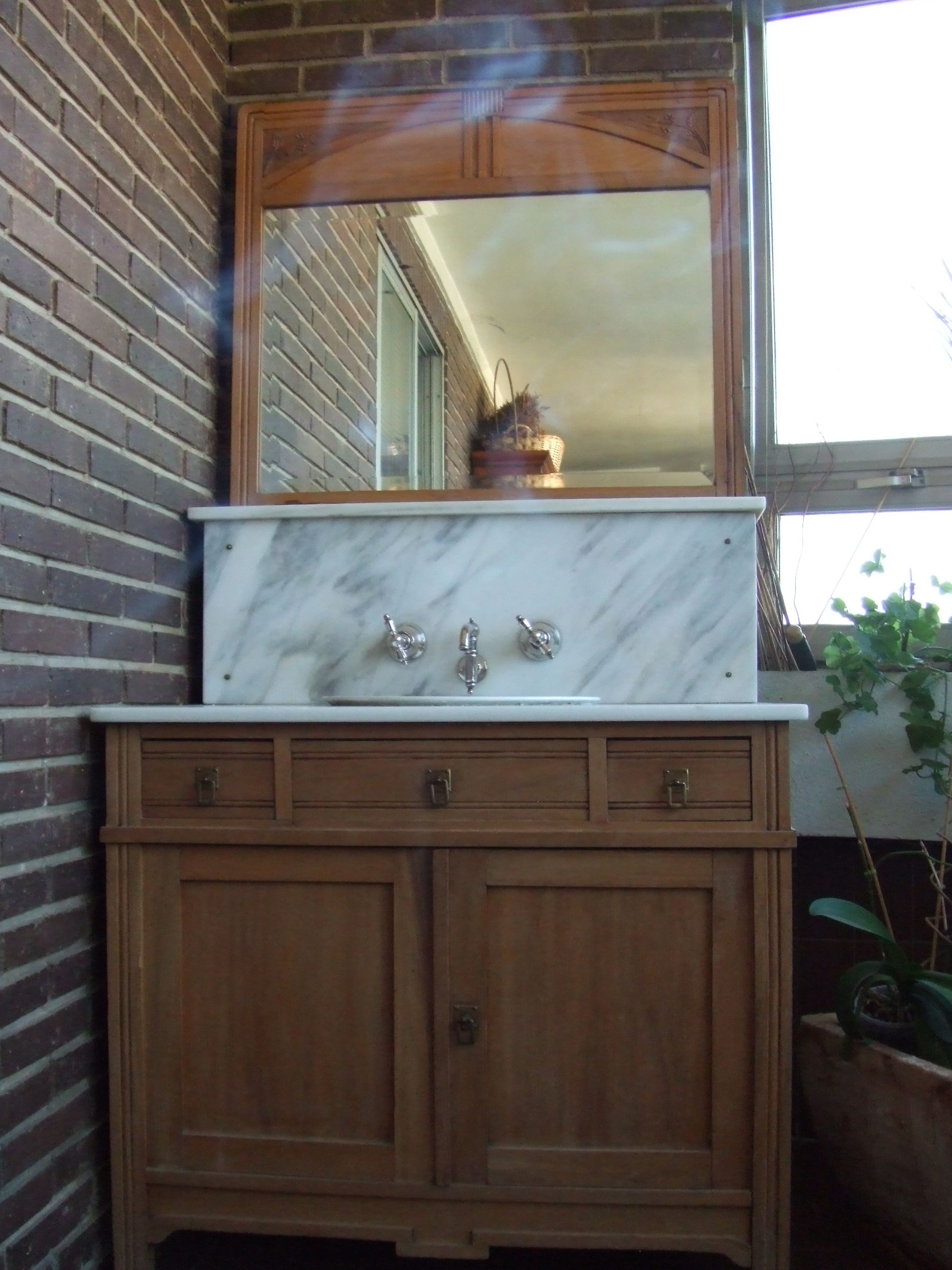Mueble lavabo antiguo de segunda mano en madrid ameubl - Muebles antiguos madrid ...