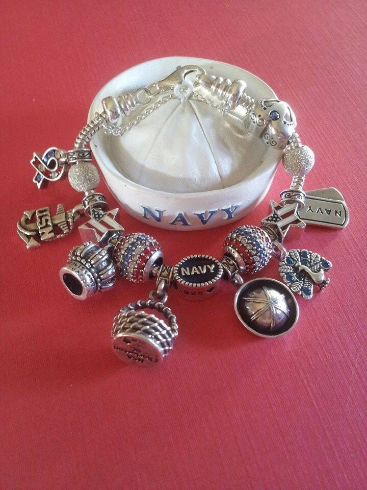 Sterling Silver Military Duty Station Charms Militarywife