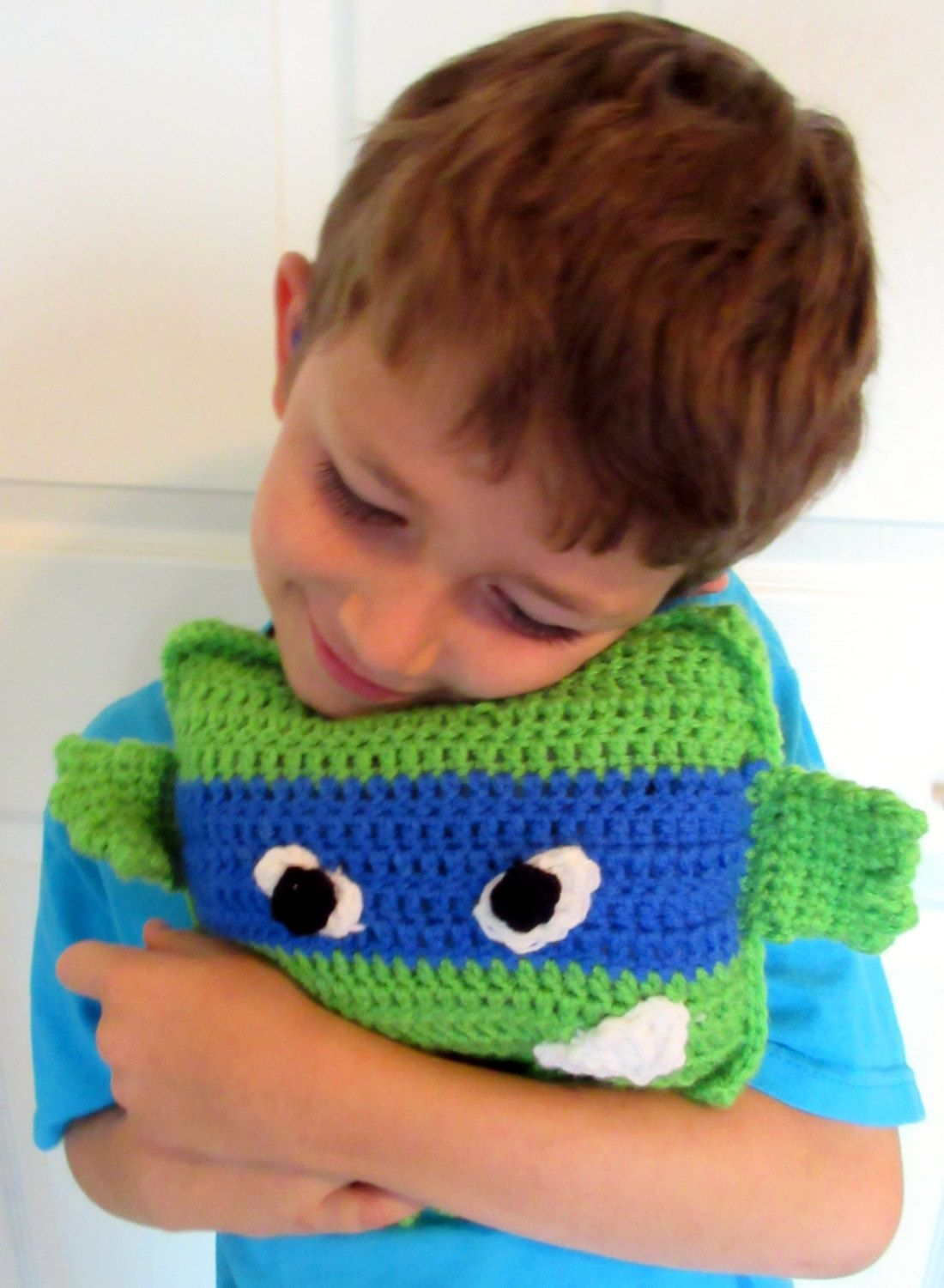 Crochet Pillow Toy, Ninja Turtle Plush Doll, TMNT Amigurumi, Gift ...