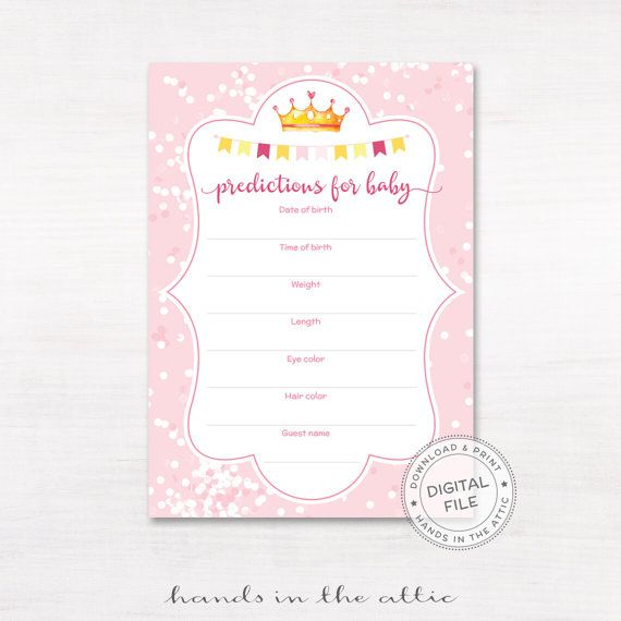 Baby stats guessing game predictions for baby girl baby shower - baby shower agenda template