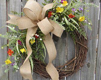 Photo of Ghirlanda di piante verdi – Ghirlanda ideale per tutto l'anno – Ghirlanda di juta di tutti i giorni, ghirlanda per porta, ghirlanda per porta d'ingresso