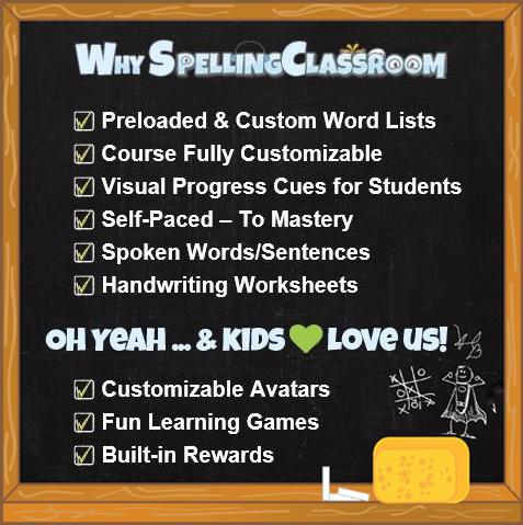 Online Spelling Words & Vocabulary Words  Program  Practice ...