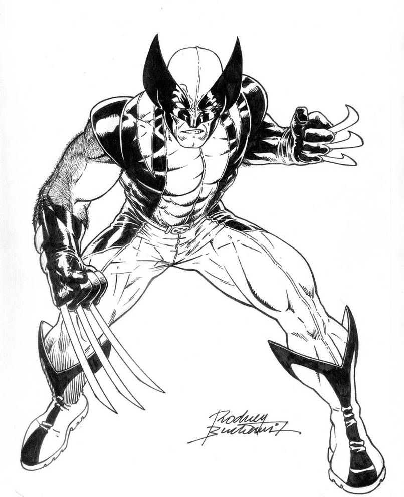 Wolverine Avenger By Buchemi Cartoon Coloring Pages Superhero Printables Marvel Coloring