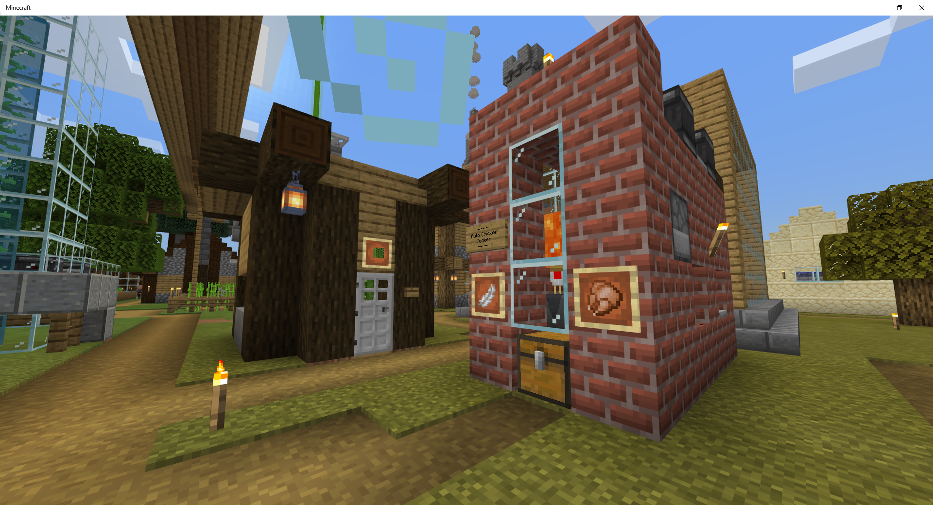 Minecraft Auto Farms Cactus Farm Minecraft Survival Chicken Cooker
