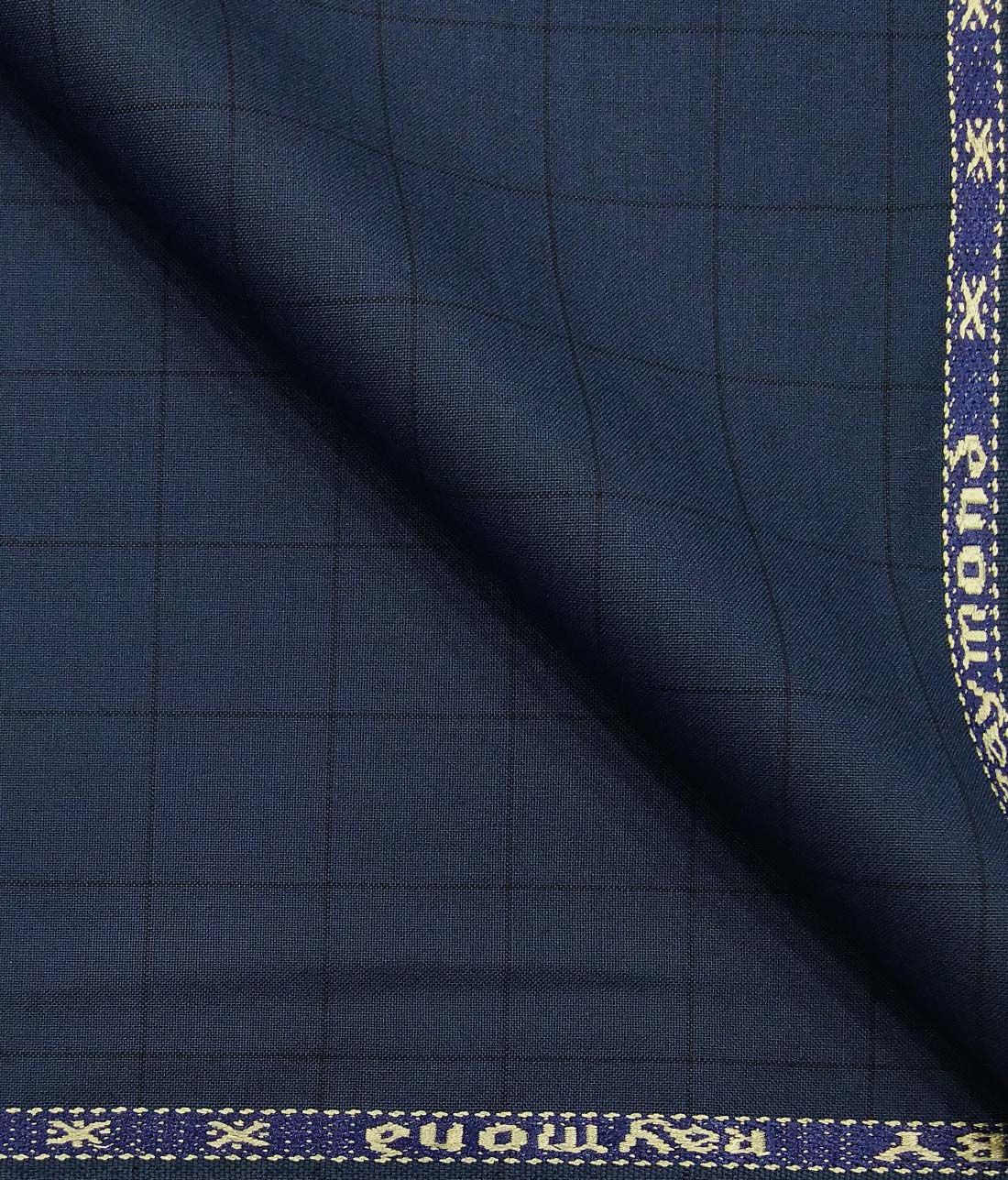 aa3a70368 Combo of Raymond Aegean Blue Checks Trouser Fabric With Nemesis Sky Blue  100% Giza Cotton