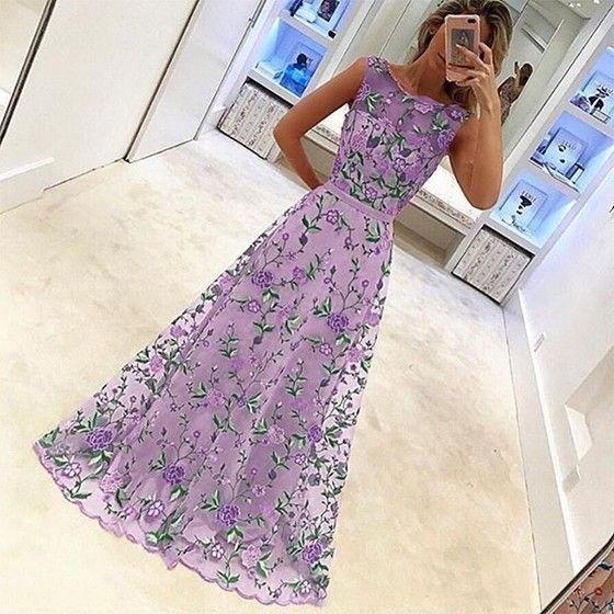 Abendkleider lang gunstig lila