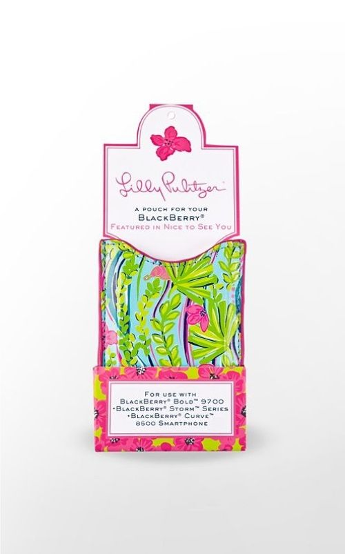 $11 - NWT Lilly Pulitzer Nice to see You Blackberry pouch, case. Fits Blackberry Smartphone series: Bold 9700, Curve 8500 & 9300, Storm. Also fits iPod Classic. | Threadflip