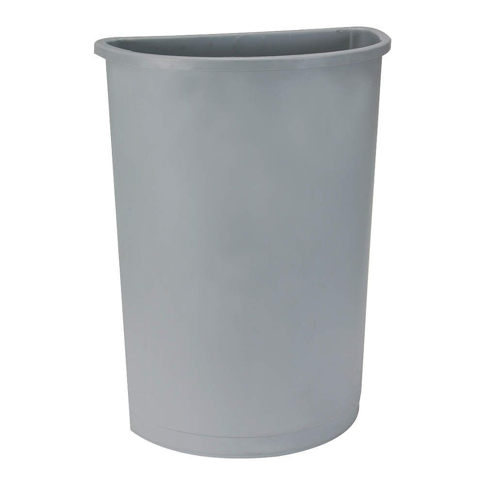 36 Qt Large Open Wastebasket Entrancing Tough Guy 21 Galhalf Round Gray Opentop Trash Can  Indoor Trash Design Inspiration
