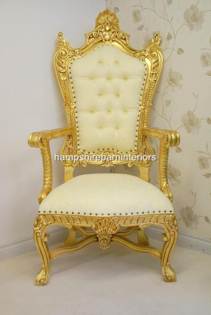 Gold Throne | Royal Gold Wedding | Pinterest | Room Kitchen, Settees And  Furniture Decor