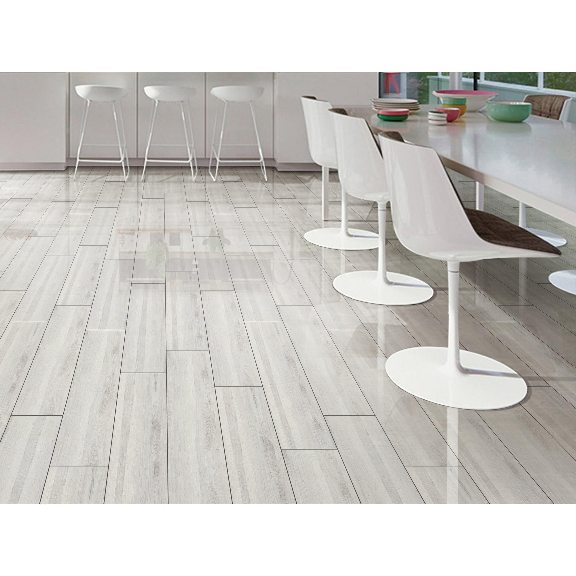 Hadley Gray Polished Wood Plank Ceramic Tile In 2020 Living Room Tiles Wood Planks Wood Polish