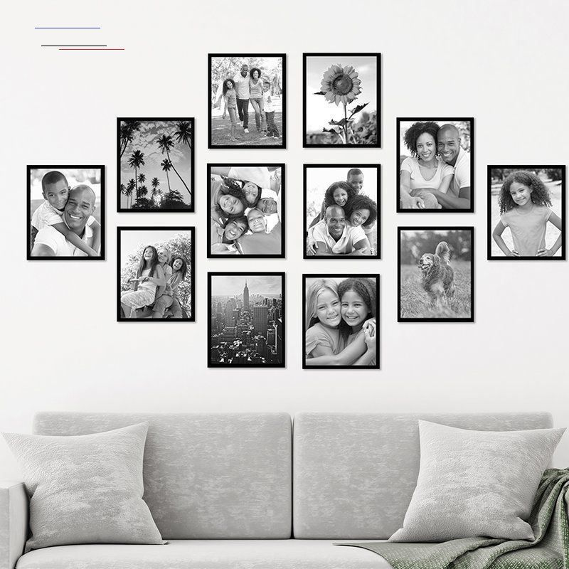 12 Piece Black Picture Frame Set Picturewallideas In 2020 Photo Wall Decor Family Wall Decor Family Pictures On Wall