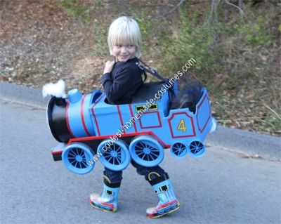coolest homemade gordon the train child halloween costume idea - Halloween Costumes For A 2 Year Old Boy