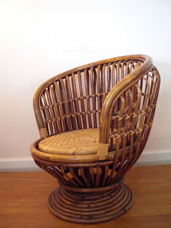 RESERVED Franco Albini Style Bamboo Rattan Bent Wood Chair ...