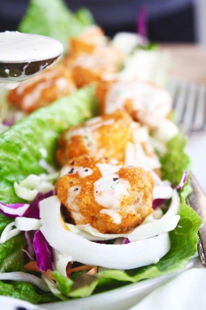 Buffalo Shrimp Lettuce Wraps (keto, paleo, whole 30)