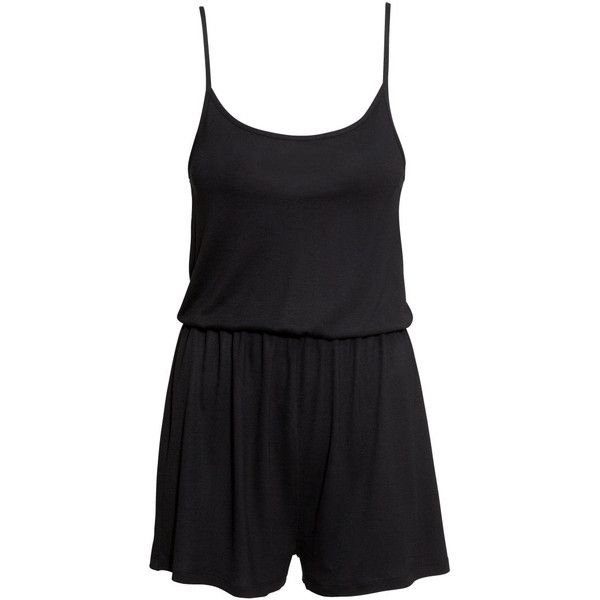 895382819b H M Jersey playsuit ( 13) ❤ liked on Polyvore featuring jumpsuits ...