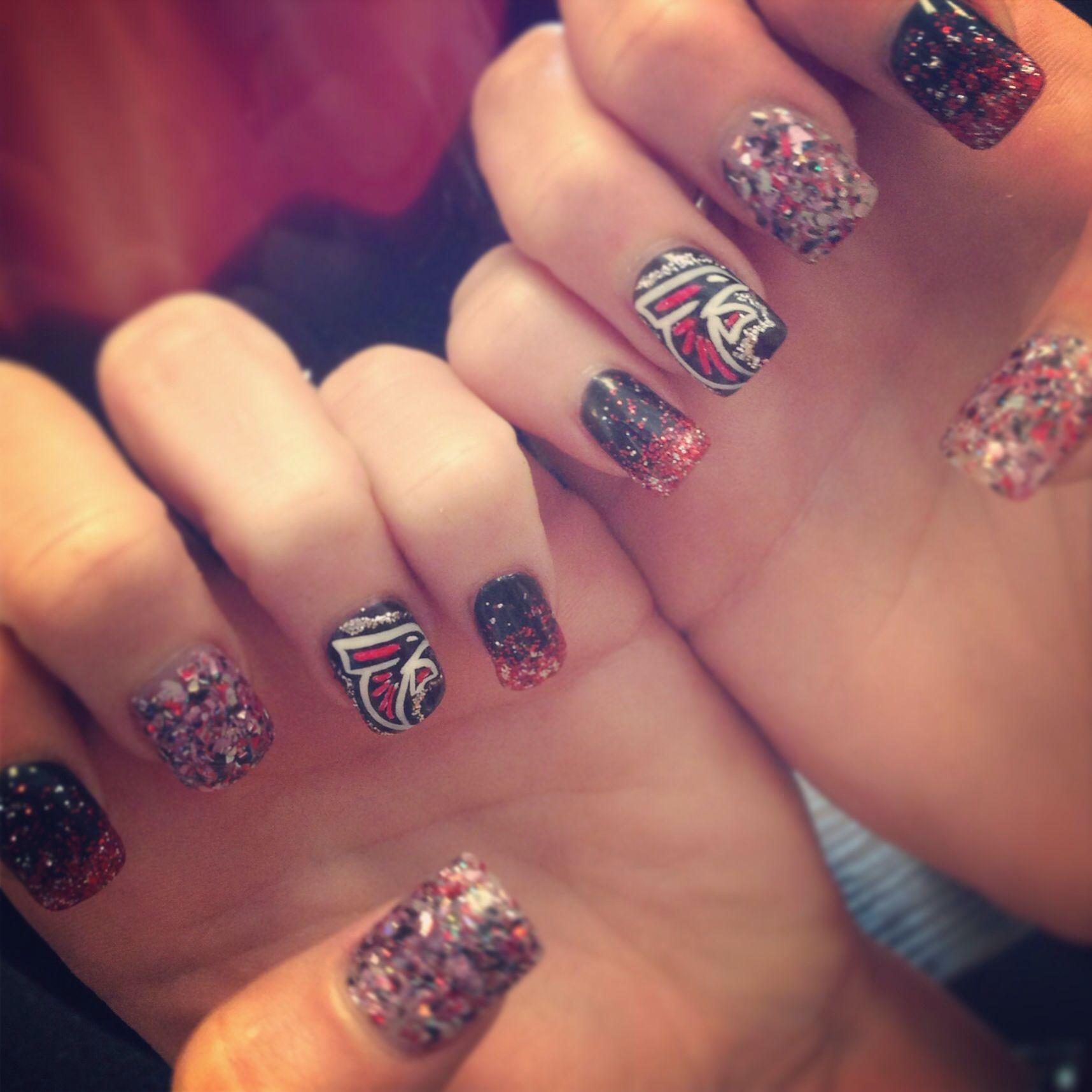 Falcon nails   Nails by The Haute Spot   Pinterest   Falcons ...