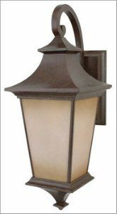 Craftmade Z1324-98 Argent Large Outdoor Sconce, Aged Bronze by Craftmade. $92.84. Finish:Aged Bronze, Glass:Champagne Frost, Light Bulb:(1)100w A19 Med F Incand  The Argent line features a lovely rustic feel, making it perfect for a domicile with a certain stylish spirit.   Quality construction  Designer finish
