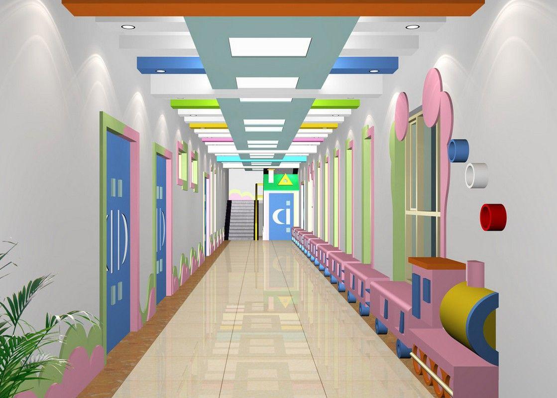 Kindergarten corridor design 3d детские сады интерьер