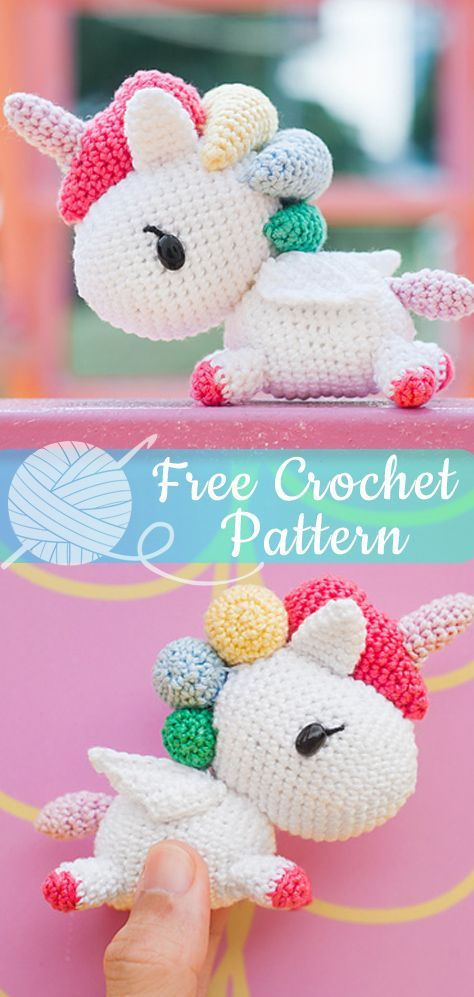 Tokidoki Unicorno Amigurumi  # crochet # freepattern # amigurum microchet # amig...