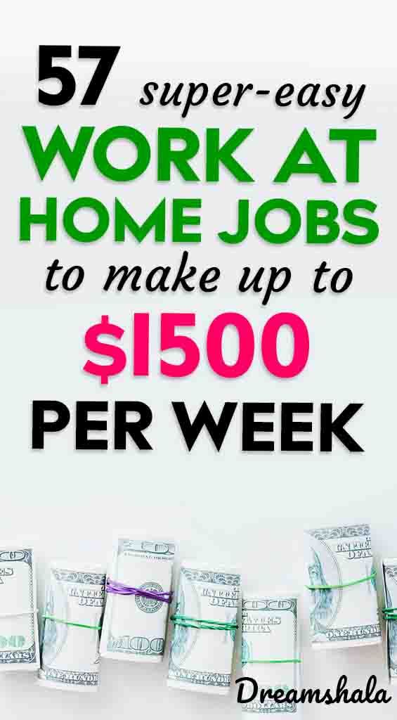 77 Legit Work From Home Companies That Pay Weekly