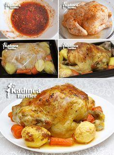 Fırın Poşetinde Bütün Tavuk Tarifi, Nasıl Yapılır