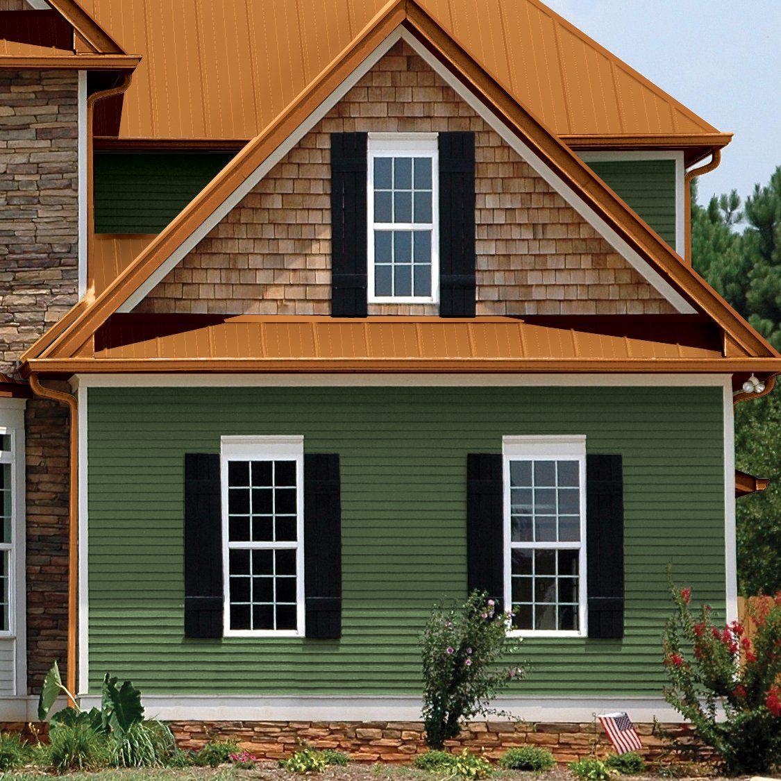 Metal roof cedar shakes metal siding metal siding for Roof color