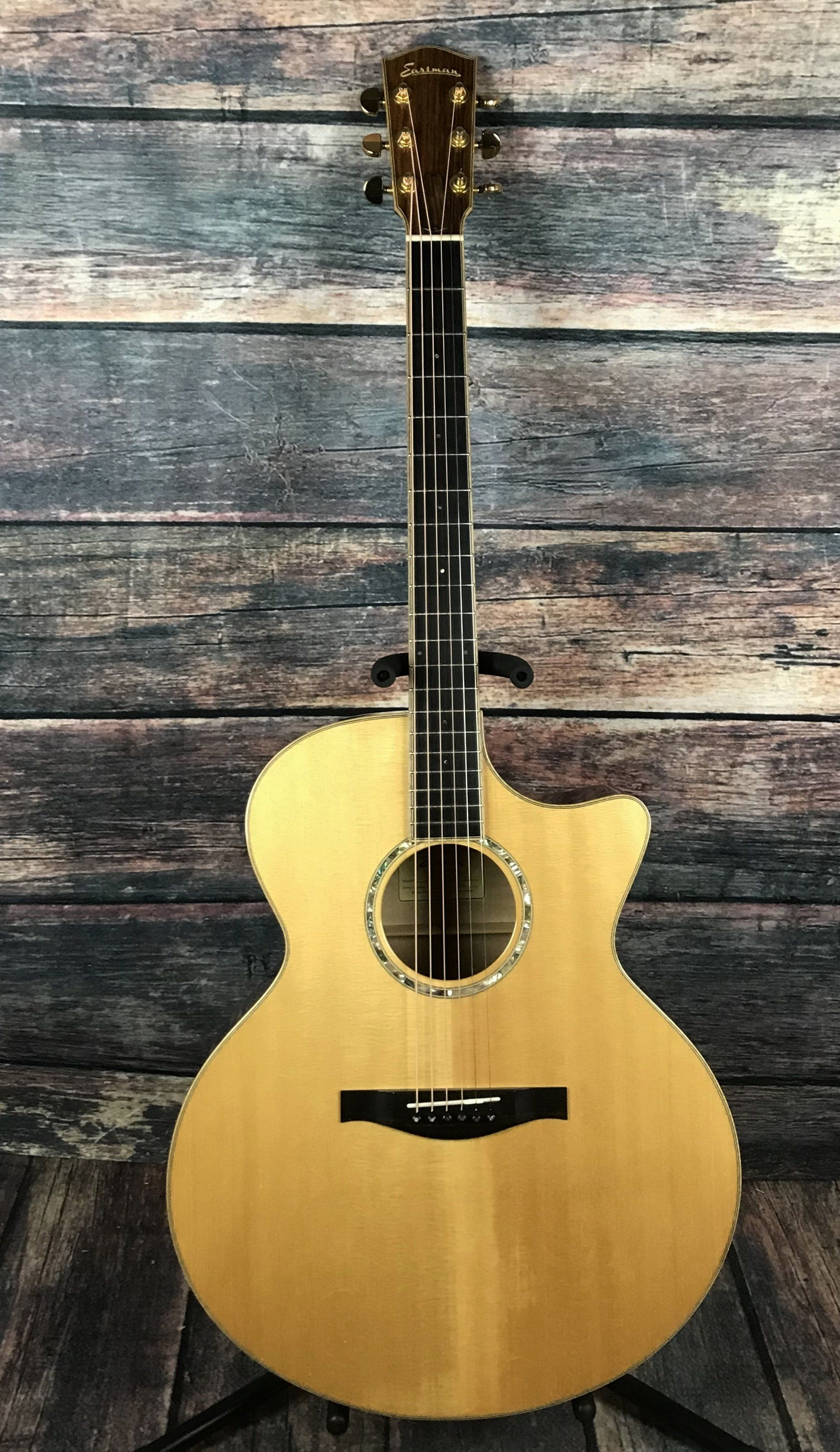 Used Eastman Ac630ce Acoustic Electric Jumbo Guitar With Case Eastman Guitar Acoustic Electric Cool Guitar