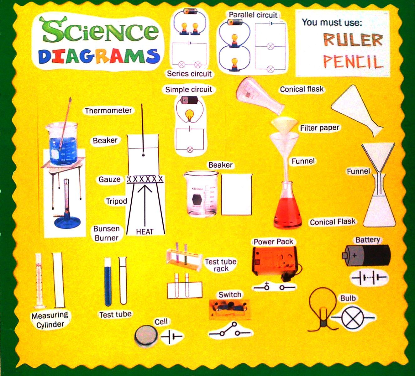 Science Classroom Decorations High School ~ Science diagrams display high school classroom