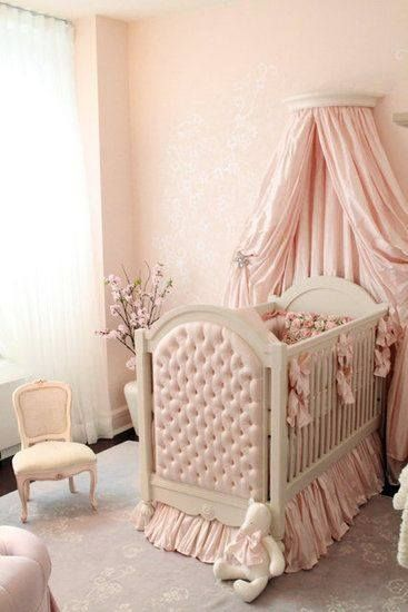 This soft pink Victorian nursery design is as girly as it s The fluffy accessories and beautiful fabrics are so inviting