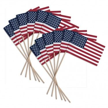 Us Stick Flag 8 X 12 Economy Wood Stick No Spear Tip 12 Pk Wood Sticks Flag Store Navy Decor
